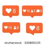 likes  set of counter... | Shutterstock .eps vector #330800135