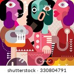 abstract art portrait of three... | Shutterstock .eps vector #330804791