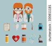 occupational medicine design ... | Shutterstock .eps vector #330811181
