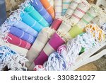 colorful turkish bath towels...   Shutterstock . vector #330821027