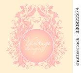 elegant openwork round vintage...   Shutterstock .eps vector #330822374