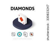 diamonds icon  vector symbol in ...