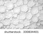 White Paper Flowers On White...