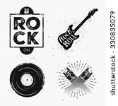 set of rock and roll music... | Shutterstock .eps vector #330835079