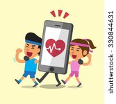 cartoon sport people walking... | Shutterstock .eps vector #330844631