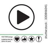 play button web icon | Shutterstock .eps vector #330846041