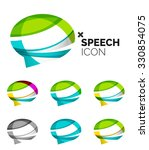 set of abstract speech bubble... | Shutterstock . vector #330854075