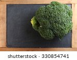 the fresh broccoli put on the...   Shutterstock . vector #330854741