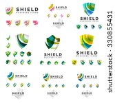 set of company logotype... | Shutterstock .eps vector #330855431
