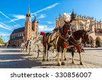 Horse Carriages At Main Square...