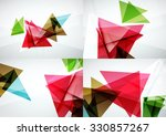 set of angle and straight lines ... | Shutterstock . vector #330857267
