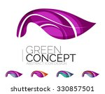 set of abstract eco plant icons ... | Shutterstock . vector #330857501
