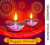 illustration of happy diwali... | Shutterstock .eps vector #330869081