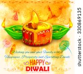 illustration of happy diwali... | Shutterstock .eps vector #330869135