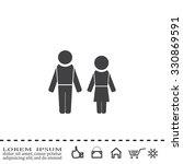 man and woman | Shutterstock .eps vector #330869591