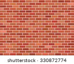 brick wall background  vector... | Shutterstock .eps vector #330872774