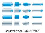 web navigation buttons | Shutterstock .eps vector #33087484