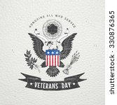 Happy Veterans Day. Detailed...
