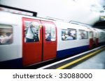London Tube Train Speeding...