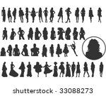 lots of elegant women... | Shutterstock .eps vector #33088273