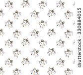 cute cartoon cats pattern. | Shutterstock .eps vector #330884015