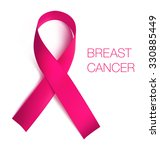 breast cancer awareness ribbon. ... | Shutterstock .eps vector #330885449
