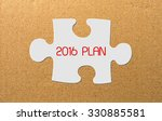 slice of puzzle with words 2016 ... | Shutterstock . vector #330885581