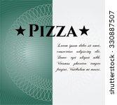 pizza card or banner | Shutterstock .eps vector #330887507