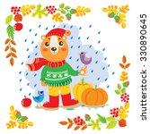 illustration of brown bears in...   Shutterstock .eps vector #330890645