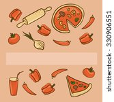 background with pizza... | Shutterstock .eps vector #330906551