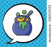 witch's pot doodle  speech... | Shutterstock .eps vector #330925955