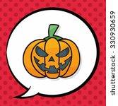 pumpkin doodle  speech bubble | Shutterstock .eps vector #330930659