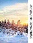 beautiful landscape in finnish... | Shutterstock . vector #330936359
