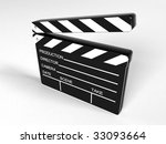 movie clapper board   3d... | Shutterstock . vector #33093664