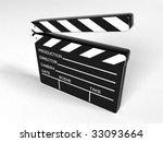 movie clapper board   3d...   Shutterstock . vector #33093664