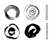 vector hand drawn circles.... | Shutterstock .eps vector #330943241