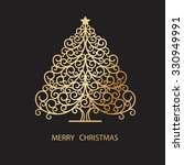 christmas card with christmas... | Shutterstock .eps vector #330949991