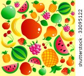 fruit background | Shutterstock .eps vector #33095122