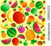 fruit background | Shutterstock .eps vector #33095122