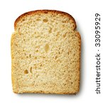 Slice Of Bread Isolated On...