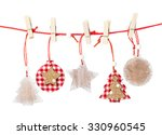christmas wooden decorations... | Shutterstock . vector #330960545
