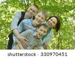 happy smiling family relaxing... | Shutterstock . vector #330970451