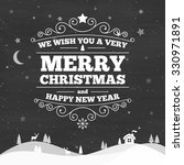 christmas greeting type design | Shutterstock .eps vector #330971891