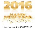 golden happy new year | Shutterstock . vector #330976115