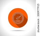 vector icon of gauge   Shutterstock .eps vector #330977915