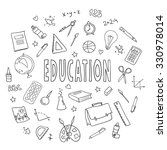 hand drawn vector set with... | Shutterstock .eps vector #330978014
