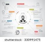 vector original minimalist cv   ... | Shutterstock .eps vector #330991475