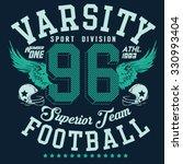 varsity football  typography  t ... | Shutterstock .eps vector #330993404