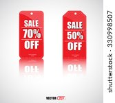 red price tag  vector labels  | Shutterstock .eps vector #330998507