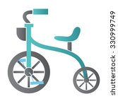 children's tricycle icon | Shutterstock .eps vector #330999749
